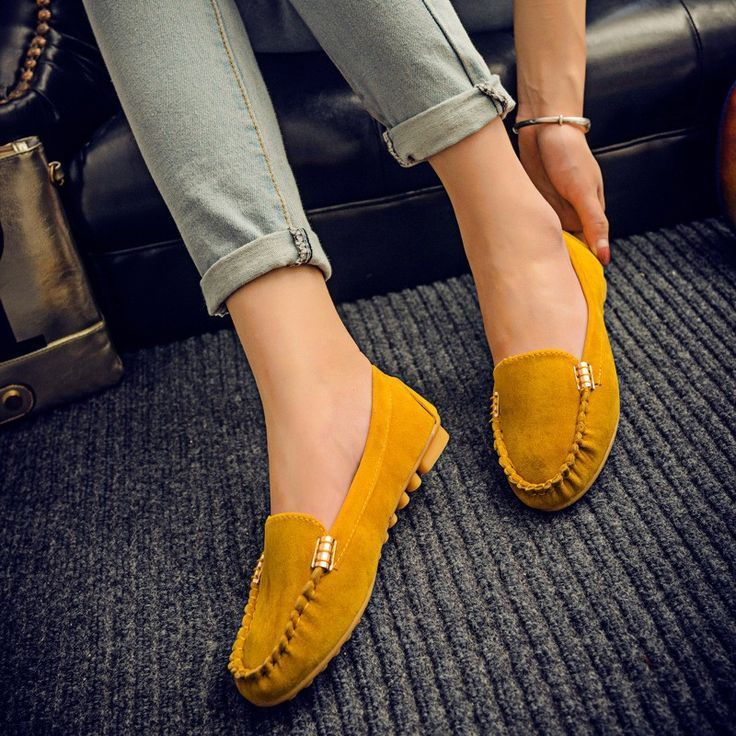 Hot sale women casual shoes fashion summer slip on candy color women flat  shoes loafers flock comfortable ladies shoes