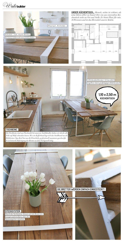 Küchentisch #Selbstgebaut #DIY #Küche #Kitchen | DIY Möbel ...