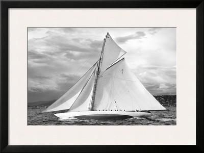 "Aux Voiles de Saint-Tropez, Mariquita   31 x 23""    $178.99   Framed Art Print by Guillaume Plisson at Art.com"