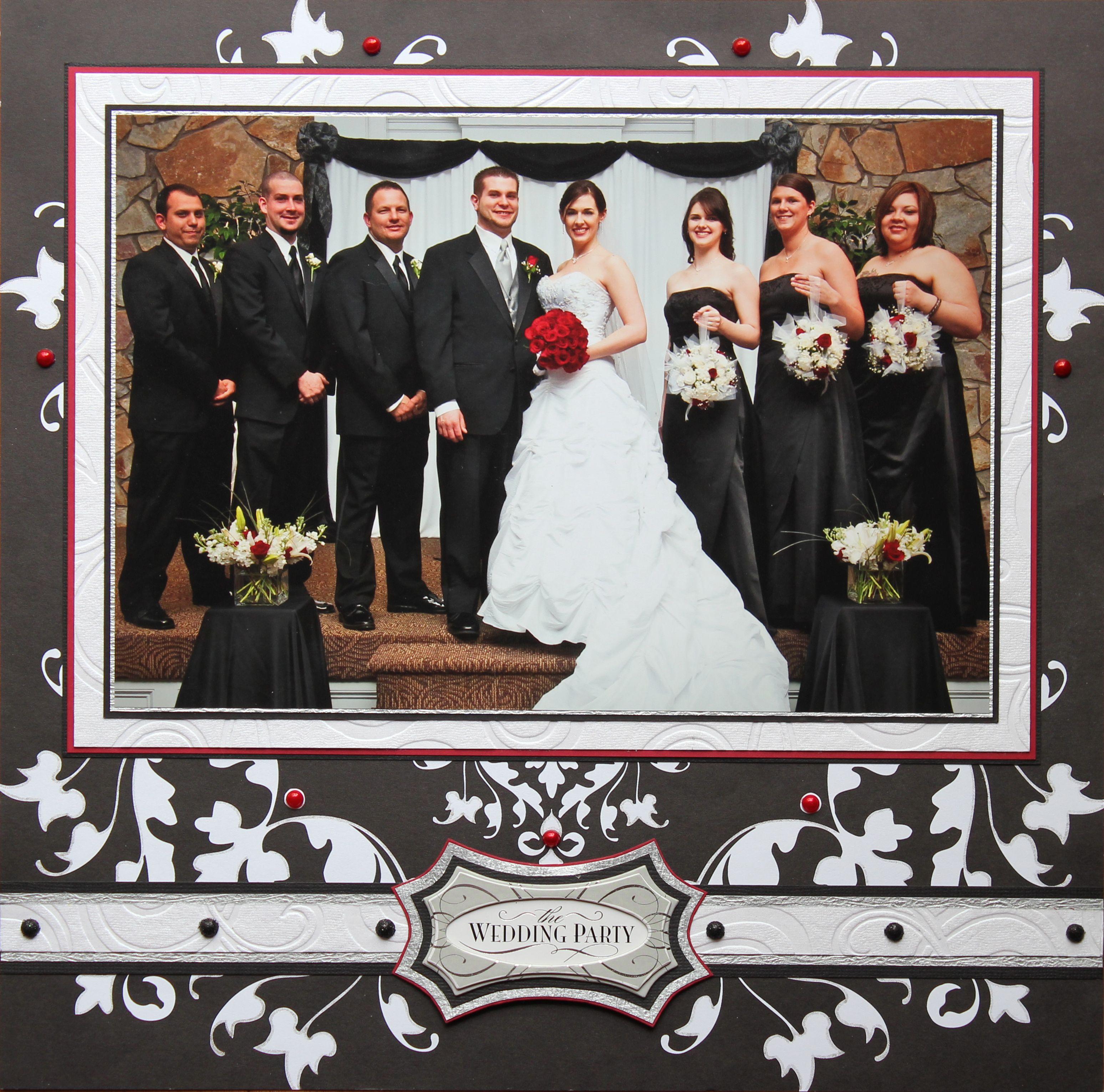 The Wedding Party Wedding scrapbooking