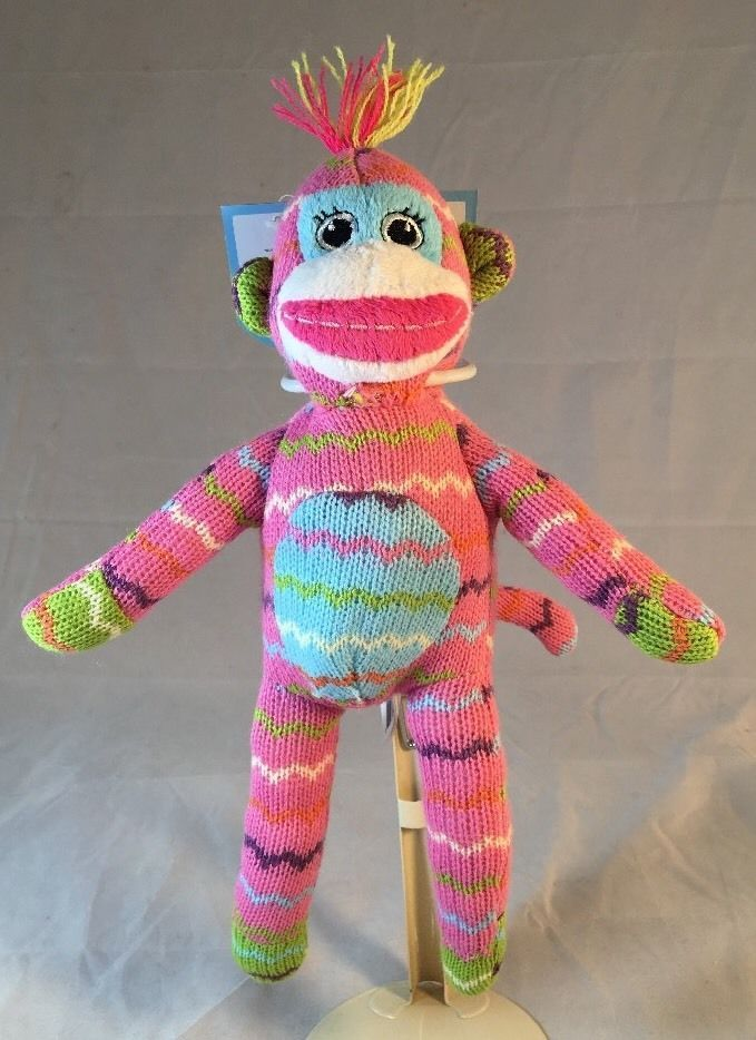 Kelly Toy Dog Toy 12 Pink Monkey W Squeaker Nwt Pt885pk A64