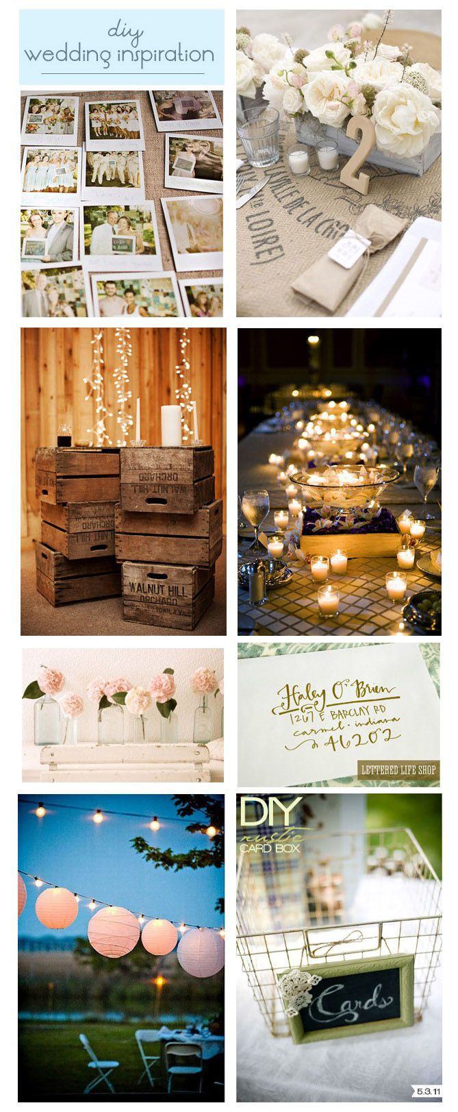 Need some inspiration for your wedding check out these diy
