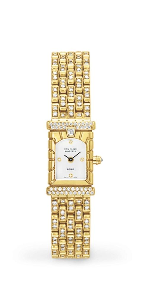 A diamond and gold wrist watch, by Van Cleef & Arpels #christiesjewels