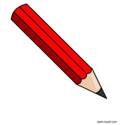 Pencil red. Free clip art for