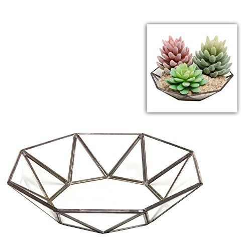 Small Faceted Glass Centerpiece Bowl / Leaded Glass Accent Décor Tray - MyGift®, http://www.amazon.com/dp/B00U0J6UGE/ref=cm_sw_r_pi_awdm_YkhUvb1APGHKH