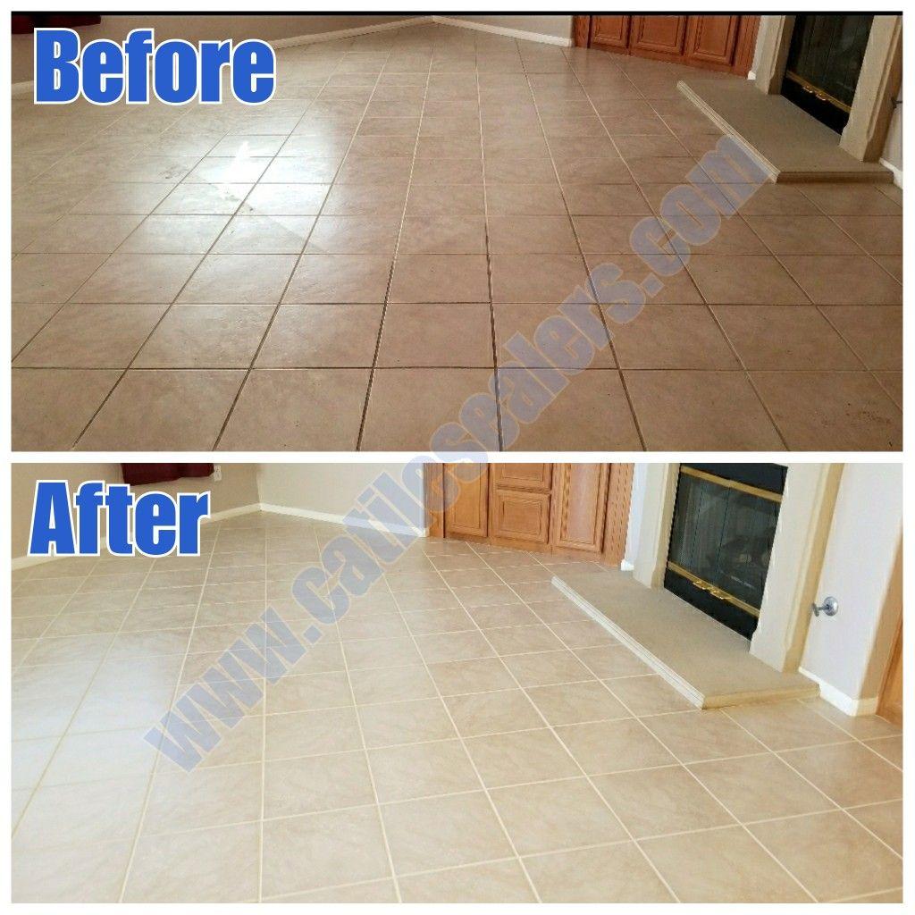 Porcelain tile deep cleaned sealed then buffed  Tiles