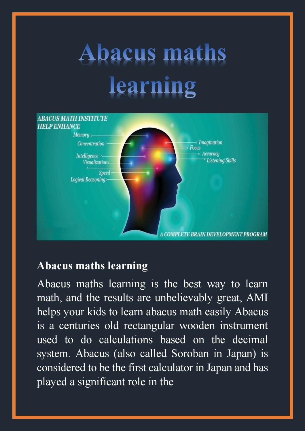 Abacus maths learning | Abacus math, Math and Learn math