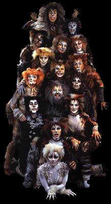 Andrew Lloyd Webber's musical 'Cats' based on T.S. Eliot's