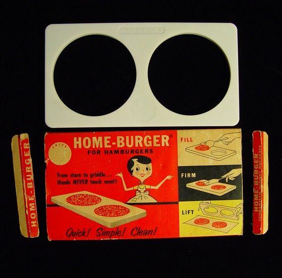 Vintage 50's Atomic Era Hamburger Patty Press by AppleCharlotte, $25.00