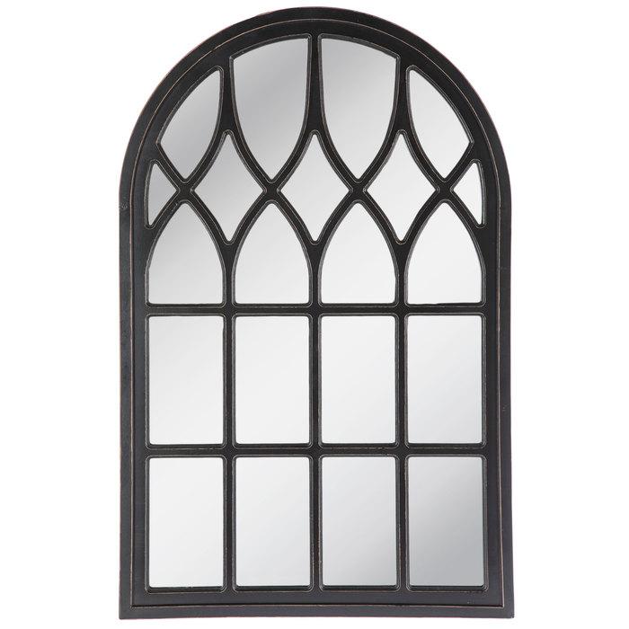Black Cathedral Arch Wood Wall Mirror Mirror Wall Decor Mirror