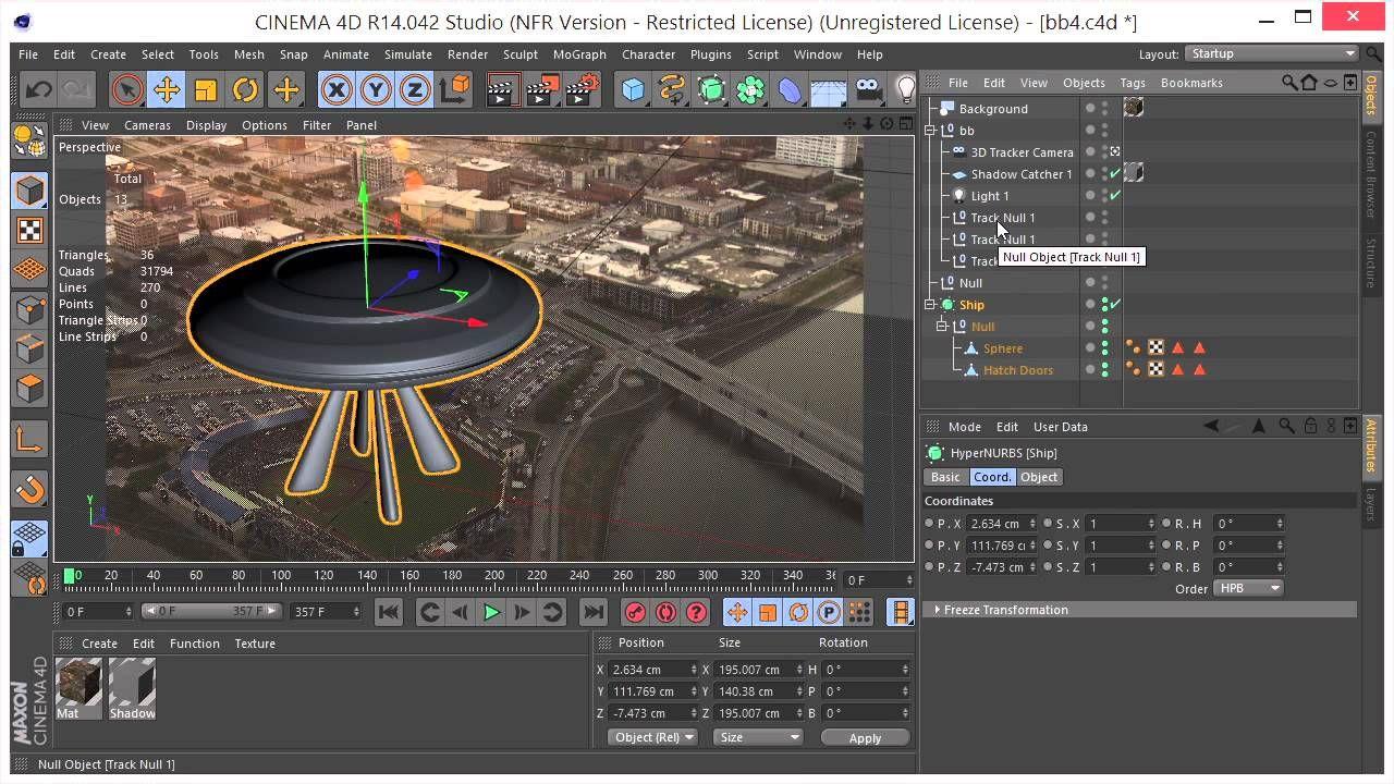 Camera Tracking In Ae And C4d Cinema 4d Tutorial Cinema 4d Cinema
