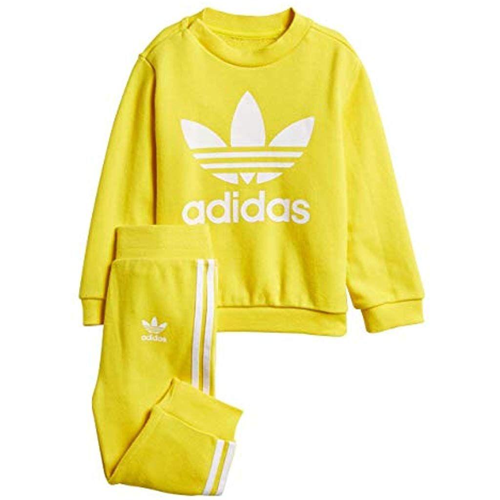 tema America talento  adidas I TRF Crew Chándal Unisex niños Amarillo amaril/Blanco 98-2/3 años  #Ropa #Niño #Camisetas polos y camisas… | Chandal adidas niña, Ropa,  Vestuarios deportivos