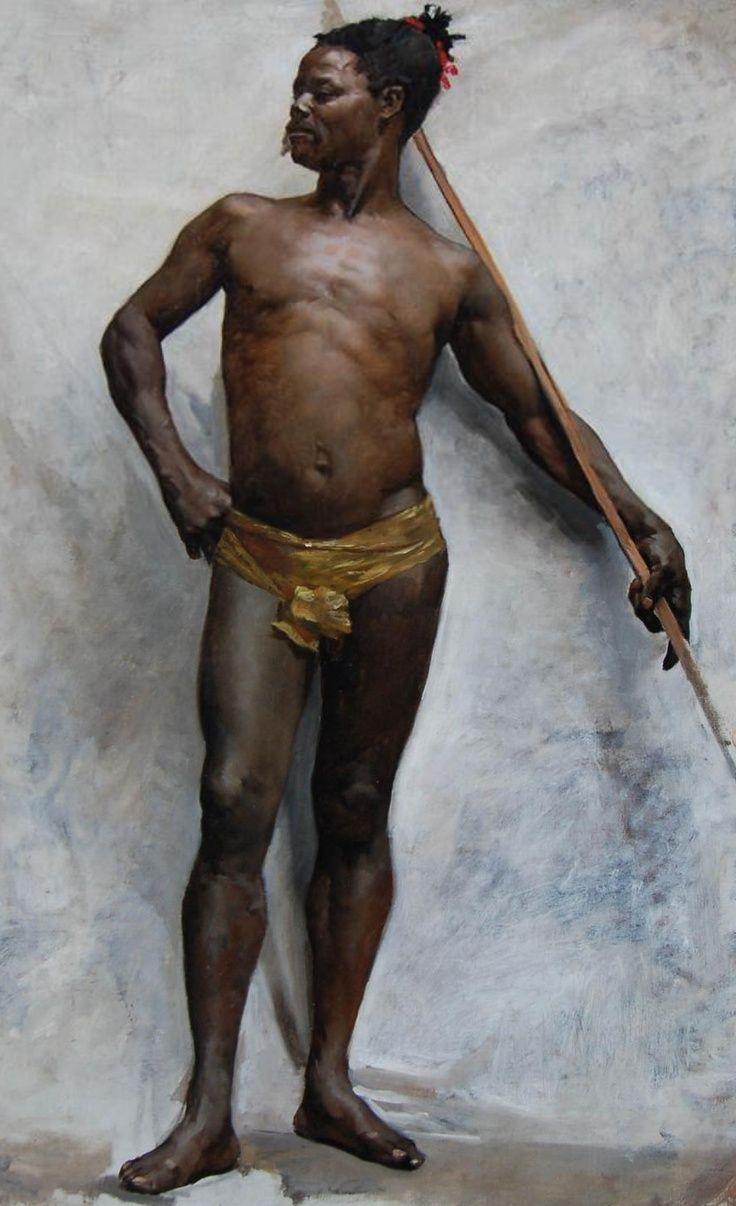 """Guerrero Africano"" Jean-Leon Gerome"
