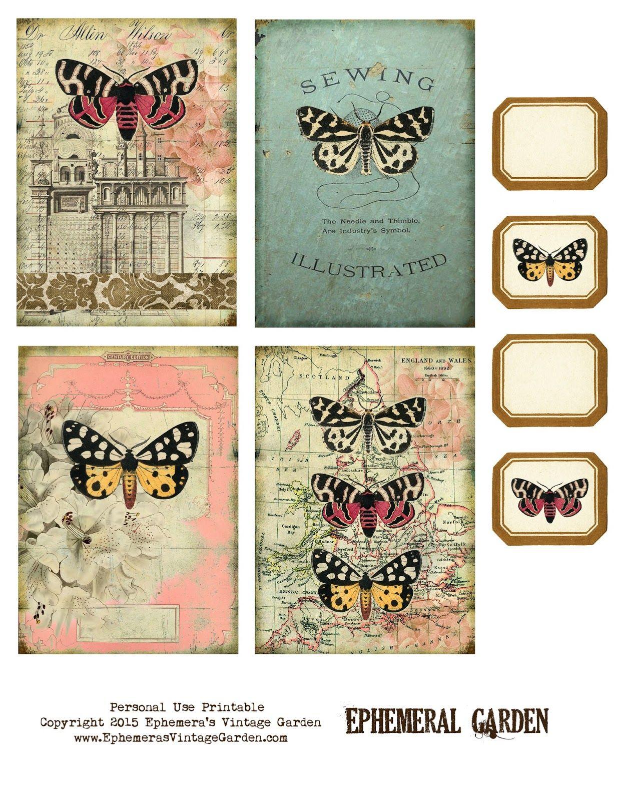 Free Printable Ephemeral Garden Journaling Cards In 2020 Journal Cards Vintage Printables Free Vintage Printables