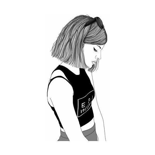 Imagem de girl, outline, and drawing