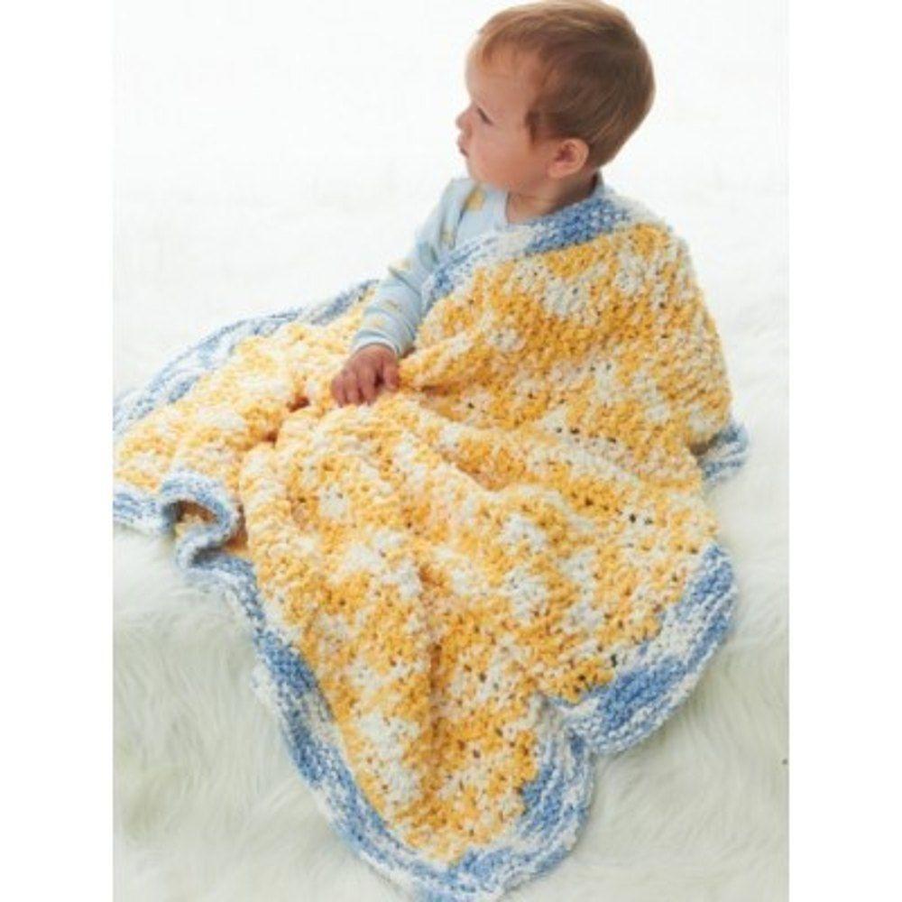 Snuggly Lovie Blanket in Bernat Lovie Free | Baby knitting ...