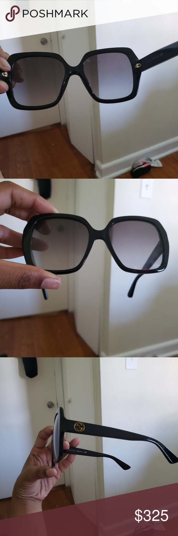 03439b7af8c BRAND NEW gucci glasses never worn Gucci sunglass black gucci on one side  bee on the other brand new with case. Never been worn Gucci Accessories  Sunglasses