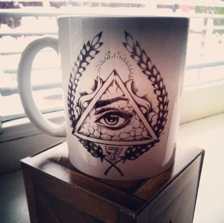 "Custom Mug ""All Seeing Eye"" / Black Shadows Clth"
