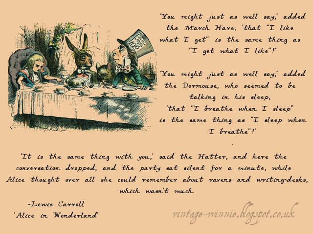 Alice In Wonderland Poems Poems Quotes And Prose Alice In
