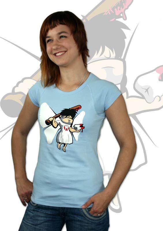 Zahnfee Damen T-Shirt    http://www.bastard-shop.de/damen-t-shirts/zahnfee-blaues-damen-t-shirt-288/