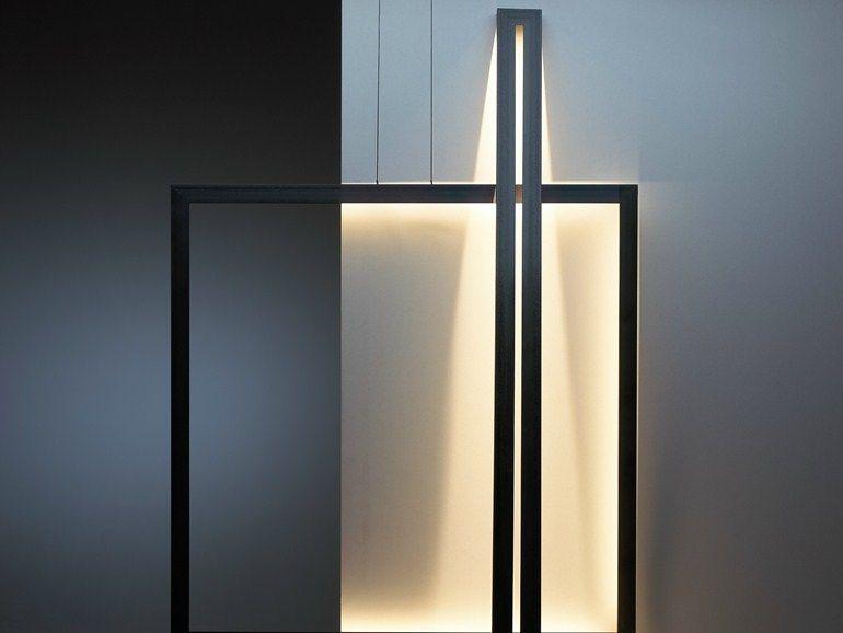 Lampada da terra a LED in acciaio FRAMED | Lampada da terra - Jacco Maris