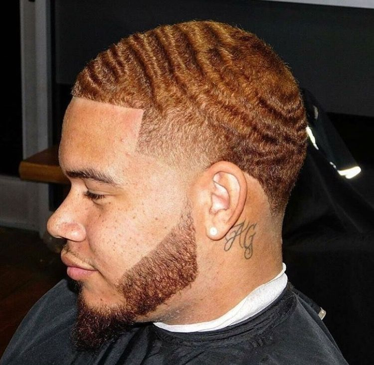 360 Wave Taper W Beard Hair Style In 2019 Hair Cuts Black Men