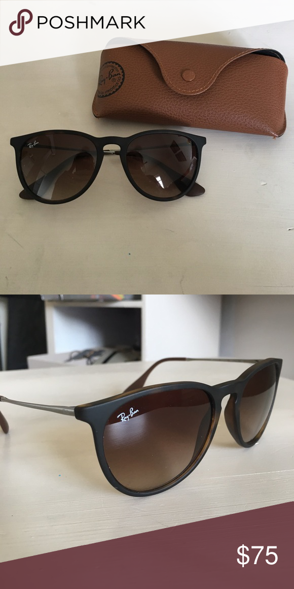 2fc1005f78e Ray-Ban Erika Classic Tortoise Gunmetal Frame Non-polarized glasses that  are in Excellent