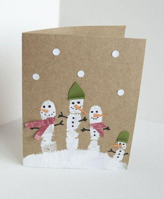 65 Ideen für Weihnachtskarten selber basteln #weihnachtenbastelnmitkindern