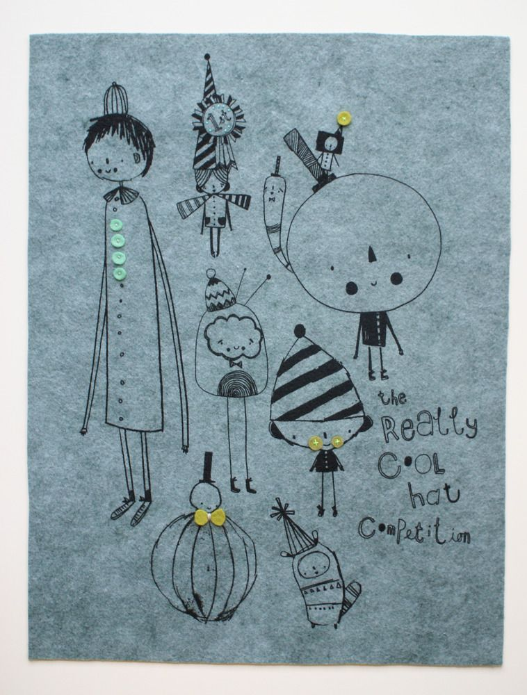 Corby Tindersticks — 'Cool hat competition' felt print