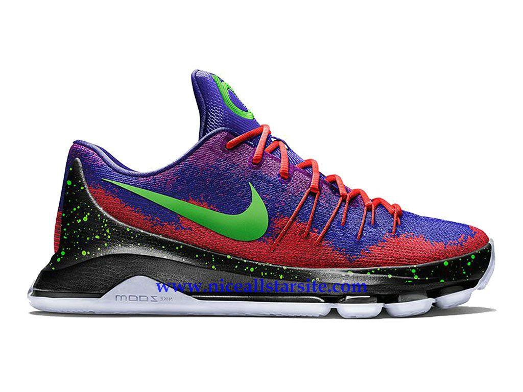 premium selection 7bfbd a1c4e Nike KD 8 Spray Paint -Chaussure De BasketBall Pas Cher Pour Homme  Pourpre/Rouge/Vert/Noir 828368-992-1509052192 - Nice All Star Site En ...