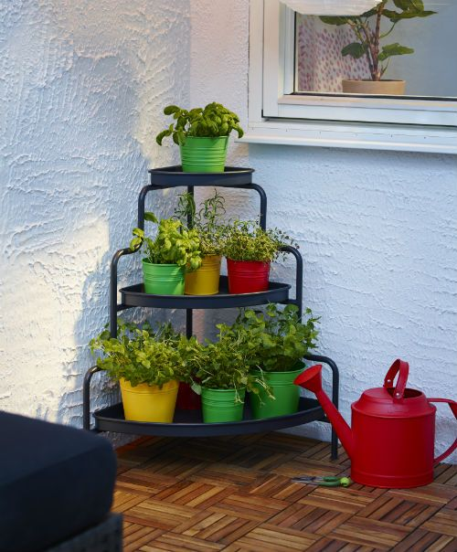 ikea fan favorite socker plant pot bring out your botanical side this space saving corner. Black Bedroom Furniture Sets. Home Design Ideas