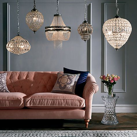 Lucia Crystal Chandelier, Crystal/Clear | John lewis, Chandeliers ...