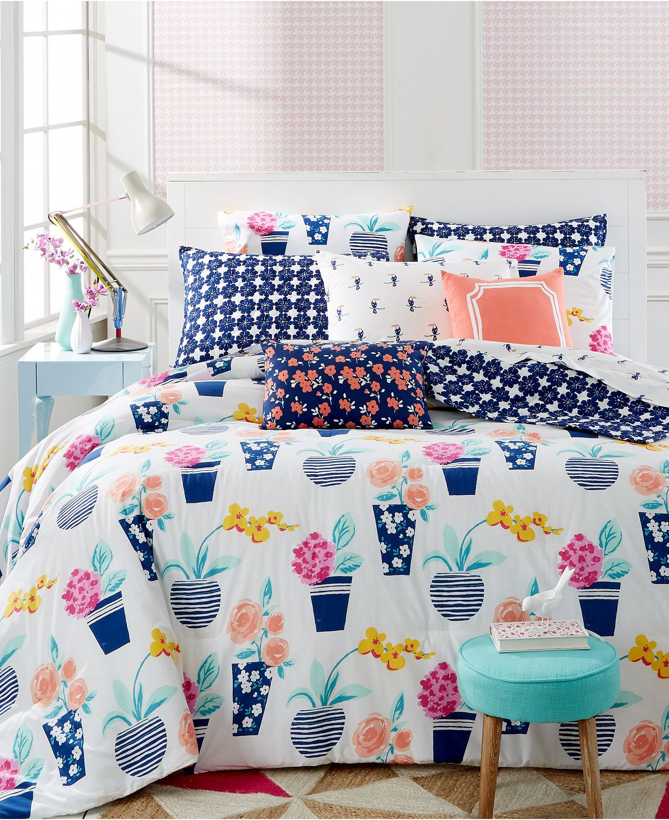 Whim by martha stewart collection pretty in pots 5 pc comforter sets whim collection bed Martha stewart bathroom collection