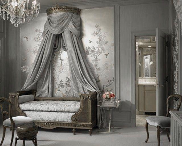 Dormitorio en gris clásico.