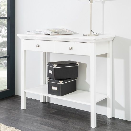 Narrow White Console Table white console table with drawers – table idea
