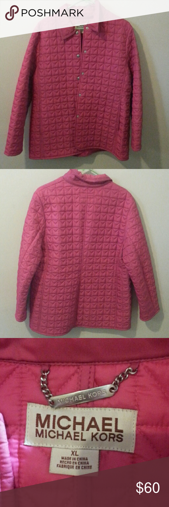 Michael Kors Pink Jacket Lightweight quilted jacket. Great fall or spring jacket. Free of f Pl as and wear. Michael Kors Jackets & Coats