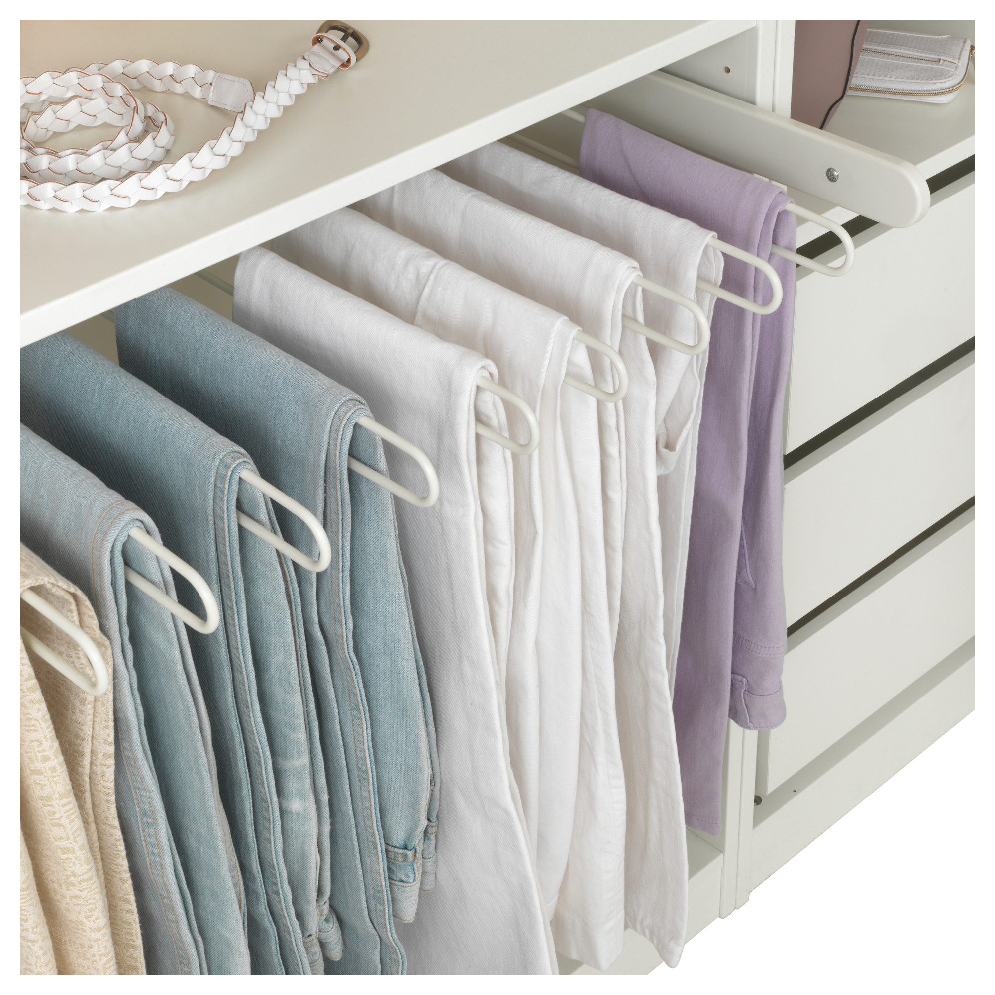 IKEA  KOMPLEMENT Pullout pants hanger white in 2019
