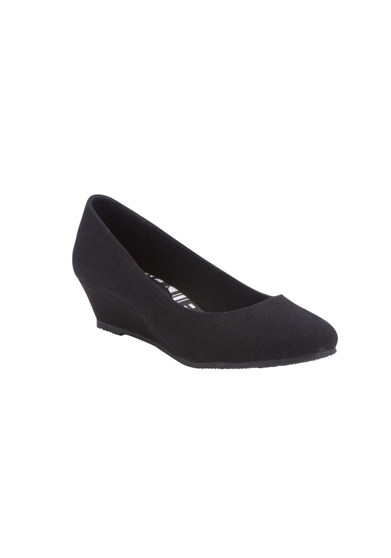 tesco black flat shoes