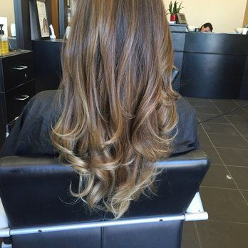 3rd visit- 2nd balayage with highlights and super ashy/grey tips ..blonde throughout   Yelp
