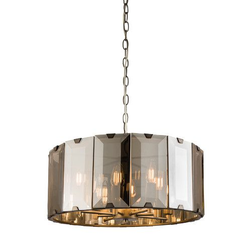 Clooney gloss slate grey and smoke cut glass 8 light pendant ceiling light by oaks lighting discover our ranges of tiffany lamp art deco and traditional