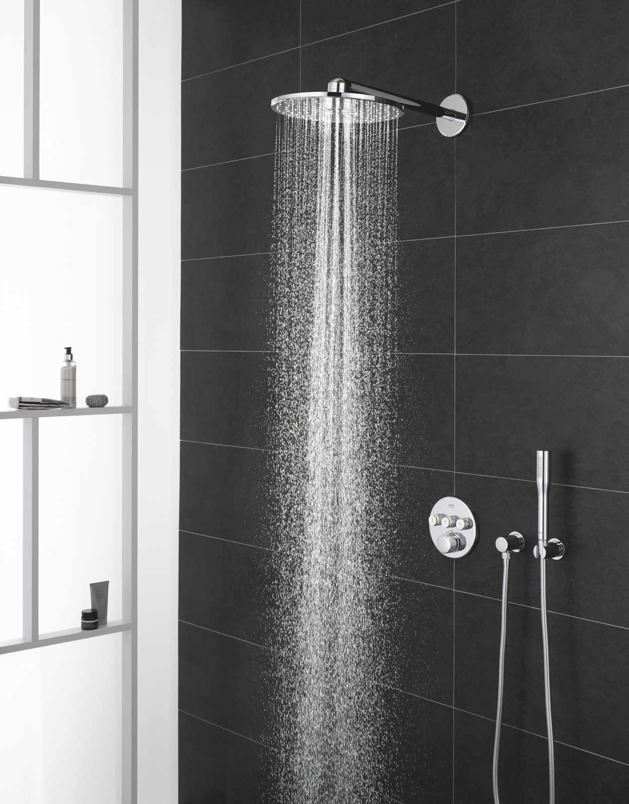 Create A Spa Like Ambiance In Your Bathroom With These Designer Tips In 2020 Grohe Shower Luxury Bathroom Master Baths Luxury Shower