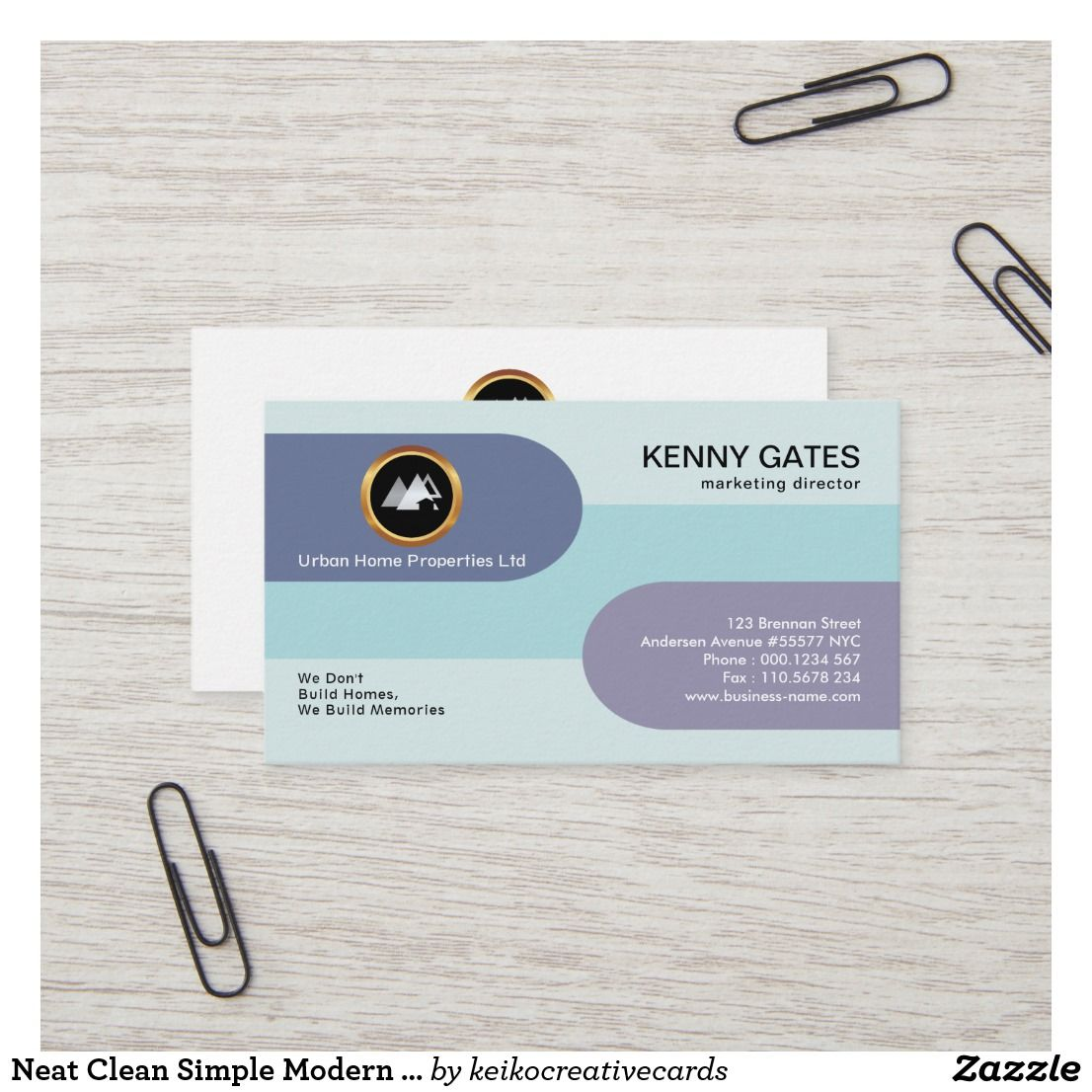 Neat Clean Simple Modern Creative Sales Marketing Business Card