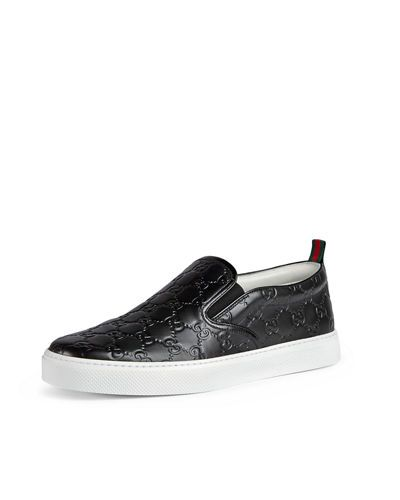 Black Gucci Leather Sneaker Men 52397964