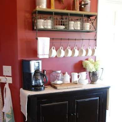 30 Coffee Bars To Put Pep In Your Home Design Coffee Bar Kitchen Decor Coffee Bar Home
