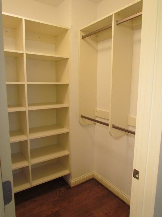 No drawers just long and skinny sleeves closet ideas - Storage solutions for small closets ...