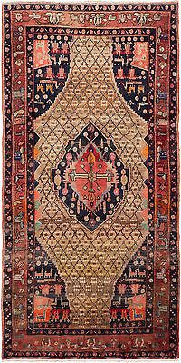 "SHIPS CANADA ONLY-Hand-knotted Persian 5'3"" x 10'4"" Koliai  Wool Rug"