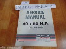 1992 1993 1994 force outboard motors 40 50 hp service manual 90 rh pinterest com 85 Force Outboard Service Manual 85 Force Outboard Diagram