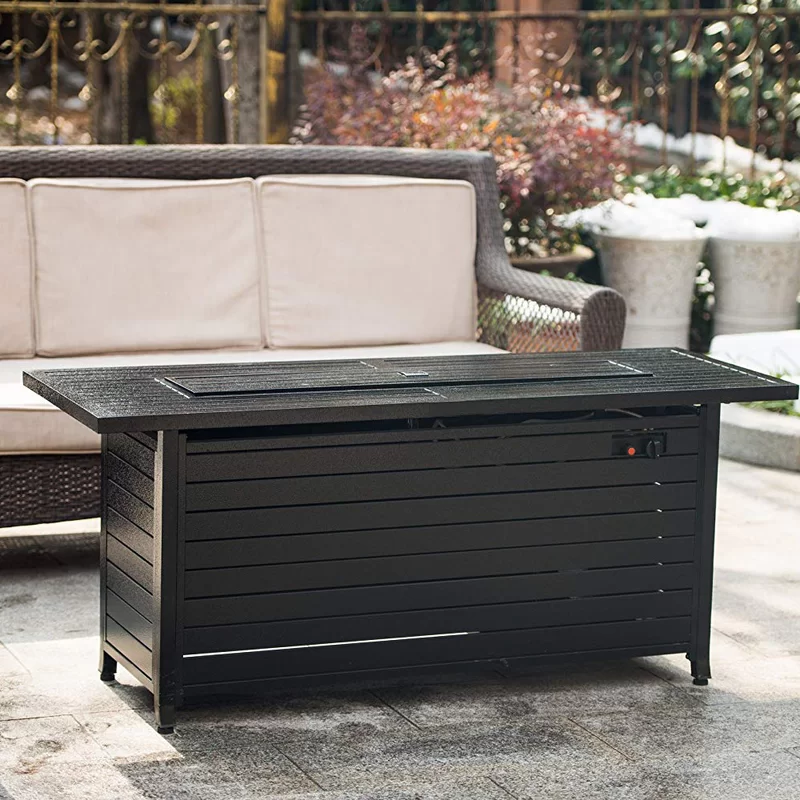 Goldstein Aluminum Propane Gas Fire Pit Table in 2020