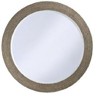 Silver And Gold Beaded 42 Quot Wide Round Wall Mirror Mirror