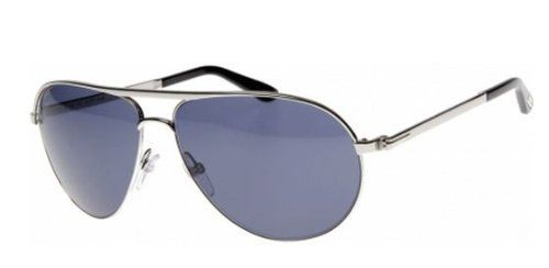 cf1ea5cb557 Tom Ford 0144 18V Silver Marko Aviator Sunglasses Lens Category 3 Tom Ford. Tom  Ford Marko FT0144 Sunglasses-18V Shiny Rhodium (Blue ...